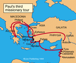 the ministry of the apostle paul in ephesus Paul's two-year ministry at ephesus then paul made his way into the synagogue  there and for three months he spoke with the utmost confidence, using both.