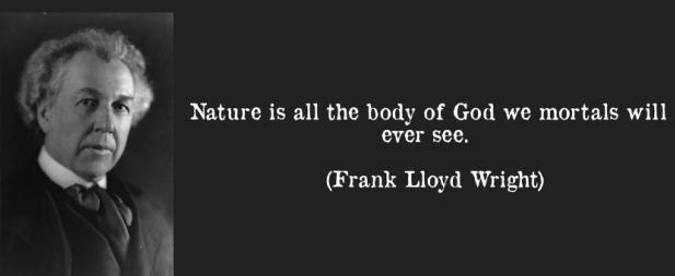 Nature is all the body of God we mortals will ever see. (Frank Lloyd Wright)
